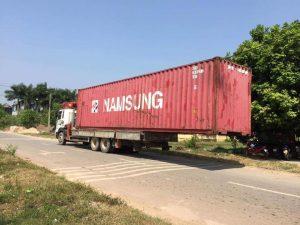 cẩu vận chuyển container 40 phit